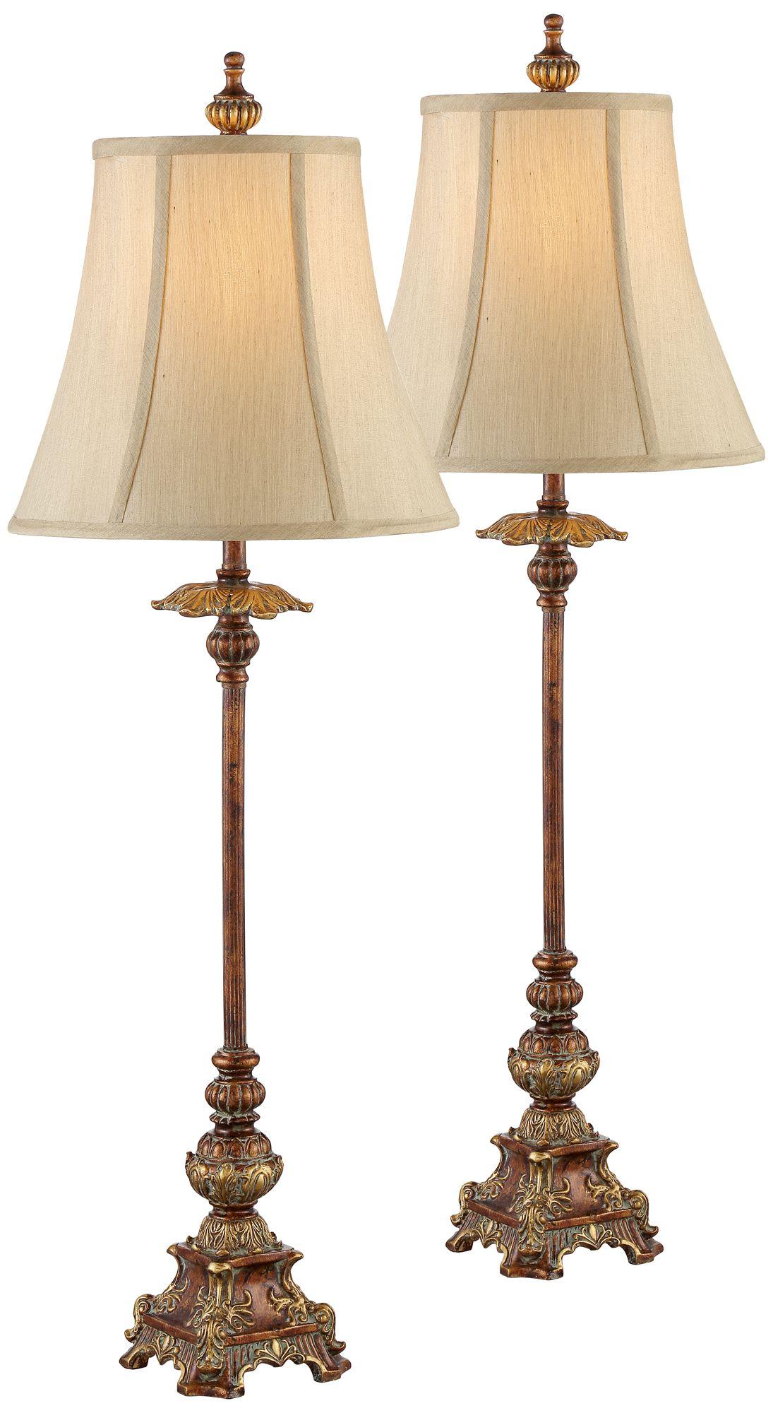 Perfect Juliette Light Bronze Buffet Table Lamp Set Of 2