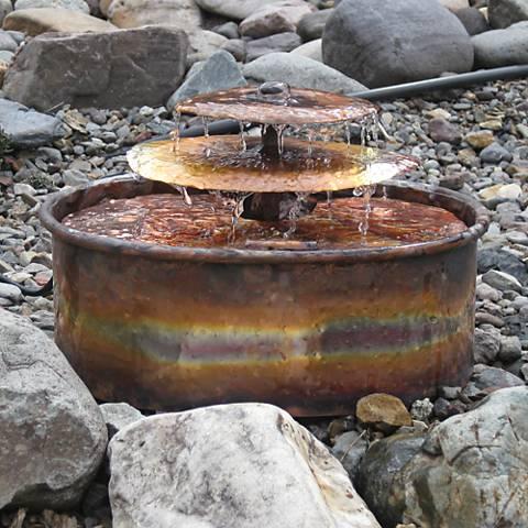 "Aquarius 14""H Indoor/Outdoor Copper Tabletop Fountain"