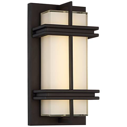 "Possini Euro Stanfield 12"" High Bronze LED Wall Light"