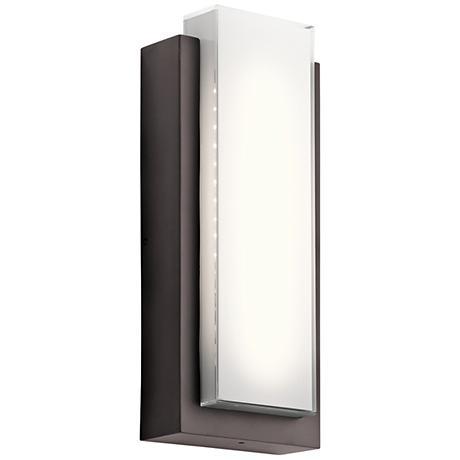 "Kichler Dahlia 18 3/4"" High LED Bronze Outdoor Wall Light"