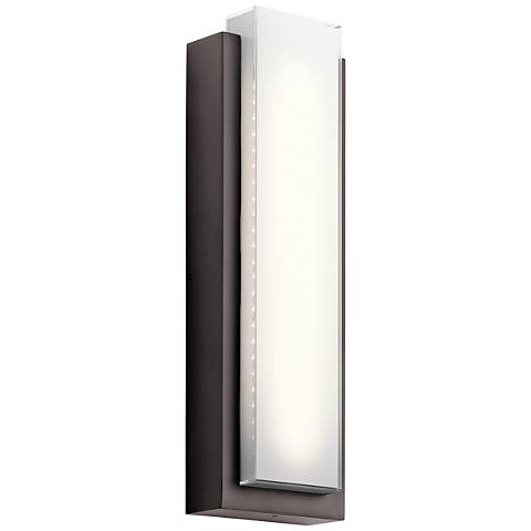 "Kichler Dahlia 25 1/4"" High LED Bronze Outdoor Wall Light"