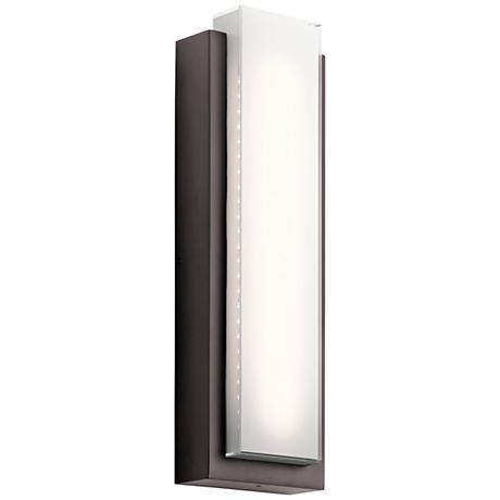 "Kichler Dahlia 25 1/4"" High LED Bronze Outdoor Wall Light"
