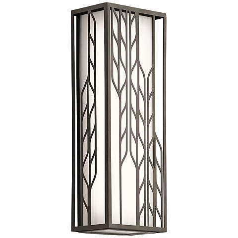 "Kichler Magnolia 16""H LED Olde Bronze Outdoor Wall Light"