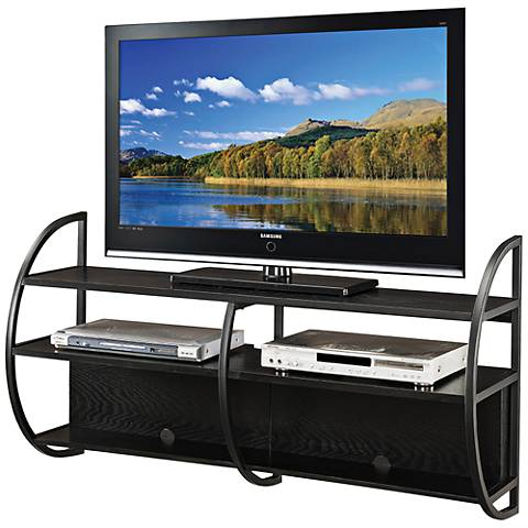 Leick Slate Oak Wood Floating Wall Mounted TV Console