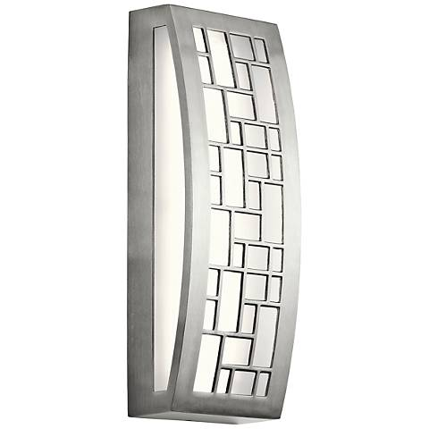 "Kichler Margeaux 16""H 2-LED Aluminum Outdoor Wall Light"