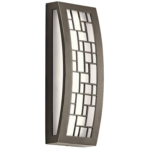 """Kichler Margeaux 12"""" High LED Bronze Outdoor Wall Light"""