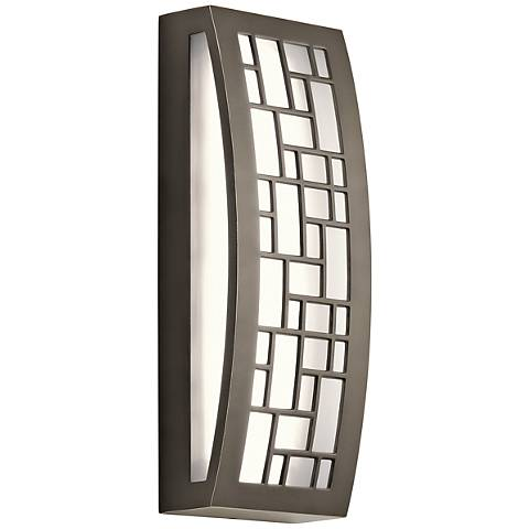 """Kichler Margeaux 16"""" High 2-LED Bronze Outdoor Wall Light"""