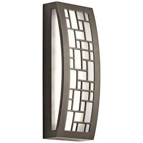"Kichler Margeaux 16"" High 2-LED Bronze Outdoor Wall Light"