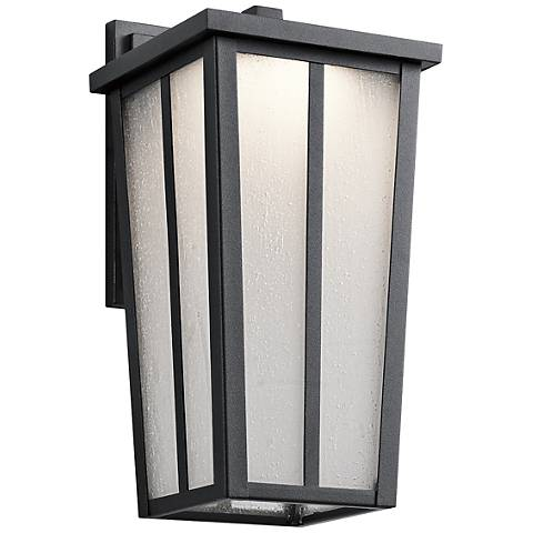 "Kichler Amber Valley 13""H LED Black Outdoor Wall Light"