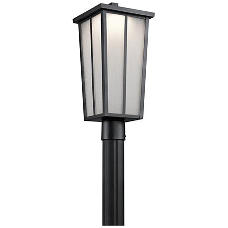 """Amber Valley 19 3/4"""" High LED Black Outdoor Post Light"""