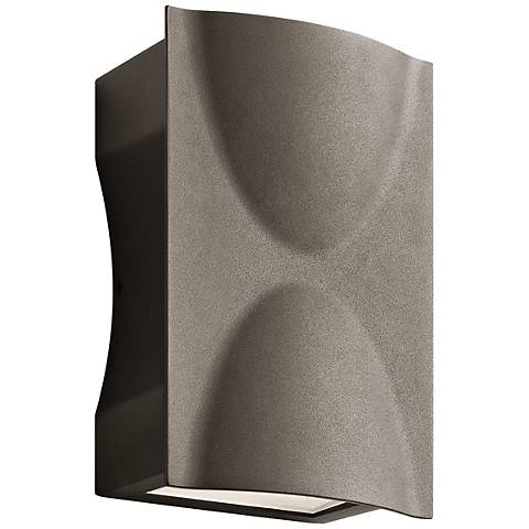 """Kichler Brive 9""""H Textured Bronze Outdoor LED Wall Light"""