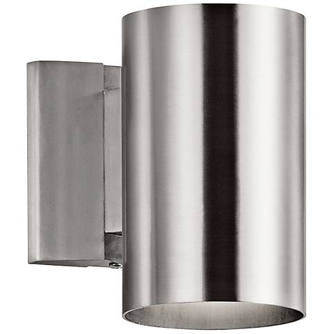 "Kichler Tube 7"" High Aluminum Dark Sky Outdoor Wall Light"