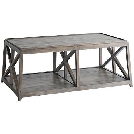 Laidley NoDa Cocoa Wood Coffee Table 1R213 Lamps Plus