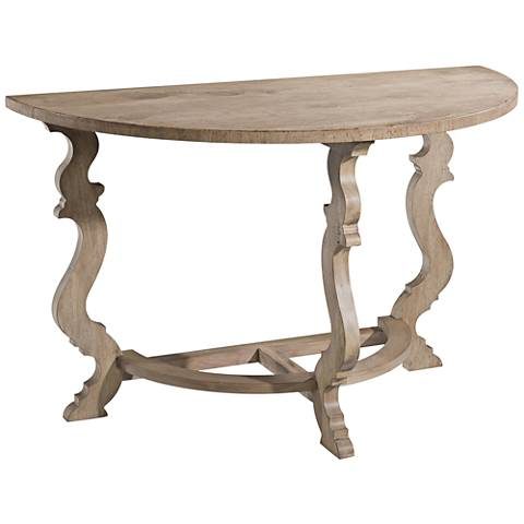 English Joiner Natural Oak and Chestnut Wood Console Table