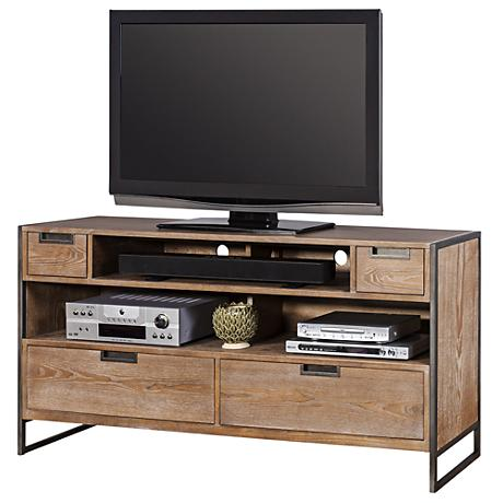 Belmont Rustic Wire Brush Ash 4-Drawer TV Stand