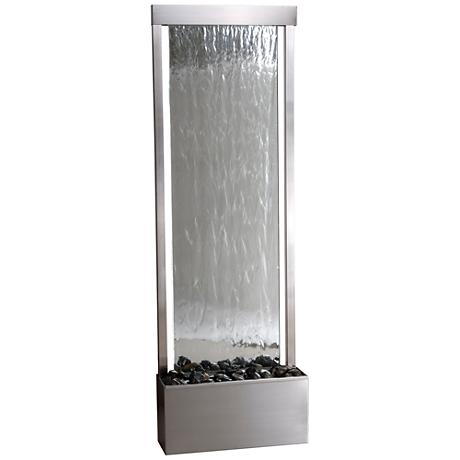 "Kenroy Home Glissade Sand 49""H Mirrored Outdoor Fountain"
