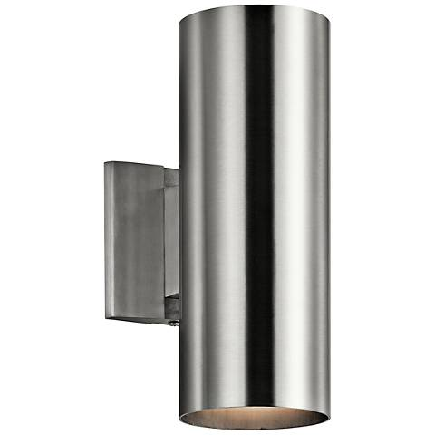 "Kichler Tube 12"" High Aluminum Up/Down Outdoor Wall Light"