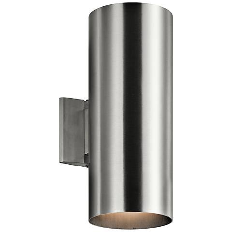 "Kichler Tube 15"" High Aluminum Up/Down Outdoor Wall Light"
