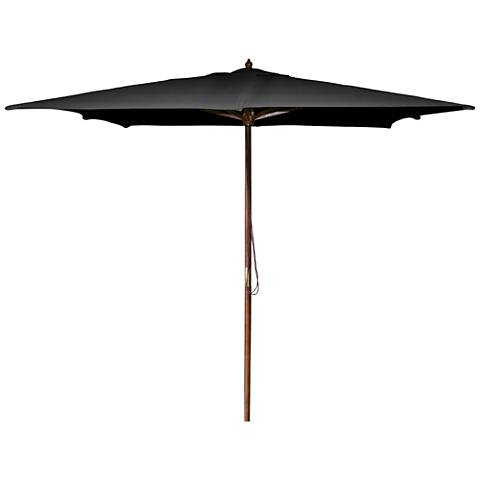 La Jolla Aruba 8 1/2' Wooden Square Market Umbrella