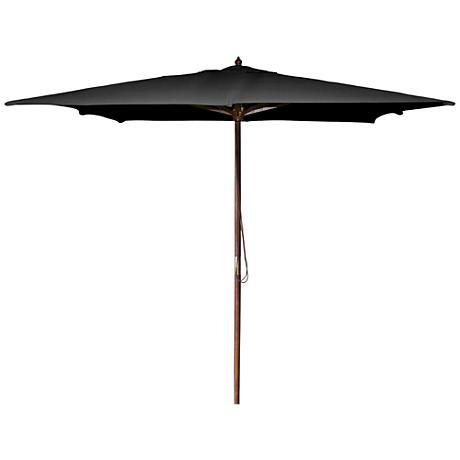 La Jolla Aruba 8 1/2' Wooden Square Market Umbrella