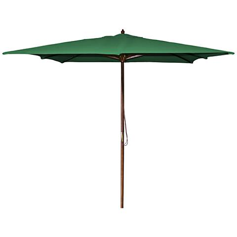 La Jolla Green 8 1/2' Wooden Square Market Umbrella