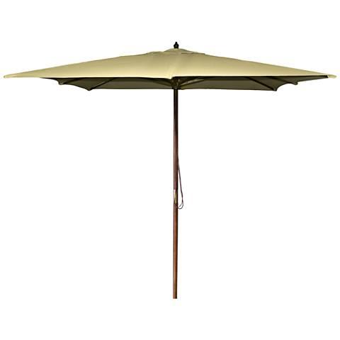 La Jolla Khaki 8 1/2' Wooden Square Market Umbrella