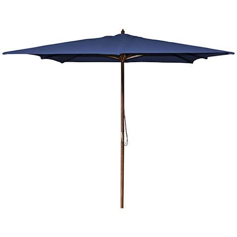 La Jolla Navy 8 1/2' Wooden Square Market Umbrella