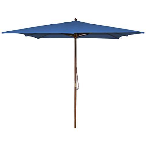 La Jolla Royal 8 1/2' Wooden Square Market Umbrella