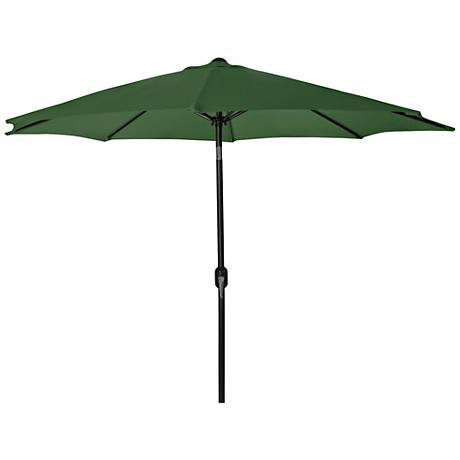 Encinitas Green 7 1/2' Steel Market Umbrella