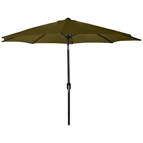 Encinitas Khaki 7 1/2' Steel Market Umbrella