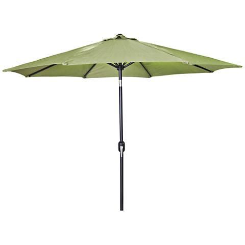 Encinitas Olive 7 1/2' Steel Market Umbrella