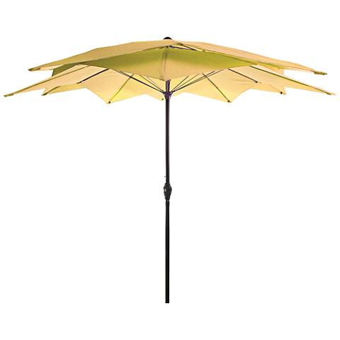 Mission Bay Canary 8 1/2' Steel Lotus Umbrella
