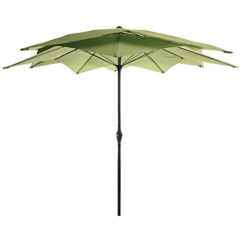 Mission Bay Olive 8 1/2' Steel Lotus Umbrella