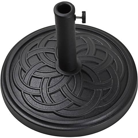 Gaelen 26.4 Lb. Black Envirostone Round Umbrella Base