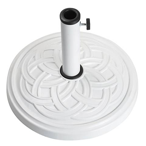 Gaelen 26.4 Lb. White Envirostone Round Umbrella Base