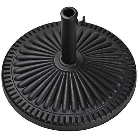 Veranda 39.6 Lb. Black Envirostone Round Umbrella Base
