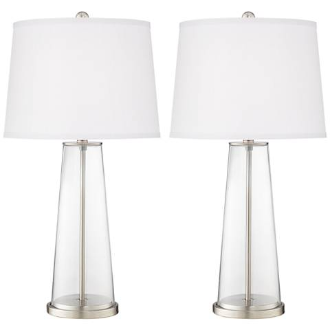 Clear Fillable Leo Table Lamp Set of 2