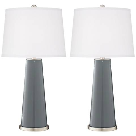 Software Gray Leo Table Lamps - Set of 2