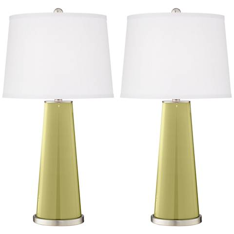 Linden Green Leo Table Lamp Set of 2