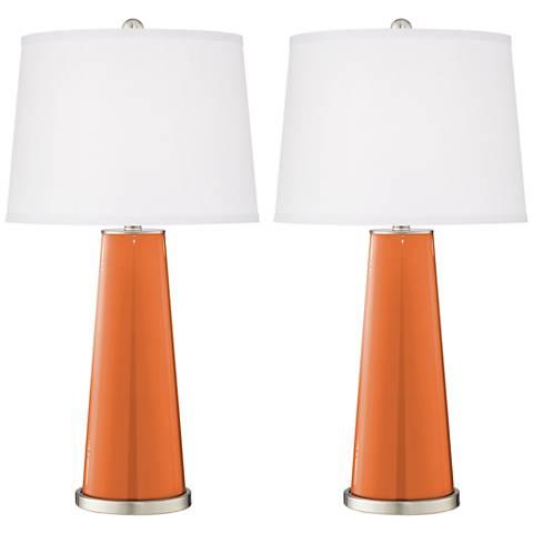Celosia Orange Leo Table Lamp Set of 2