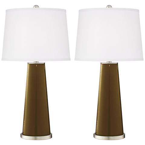Bronze Metallic Leo Table Lamp Set of 2
