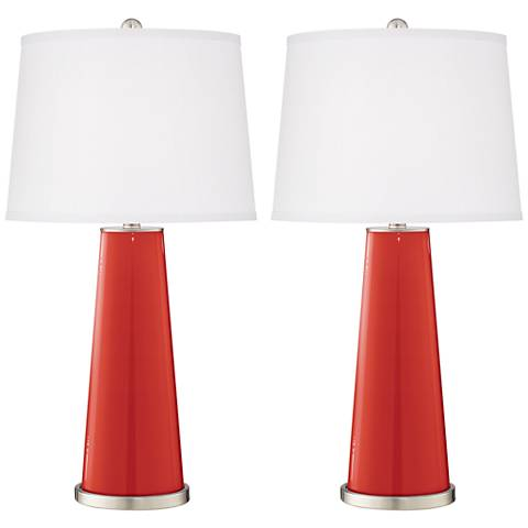 Cherry Tomato Leo Table Lamp Set of 2