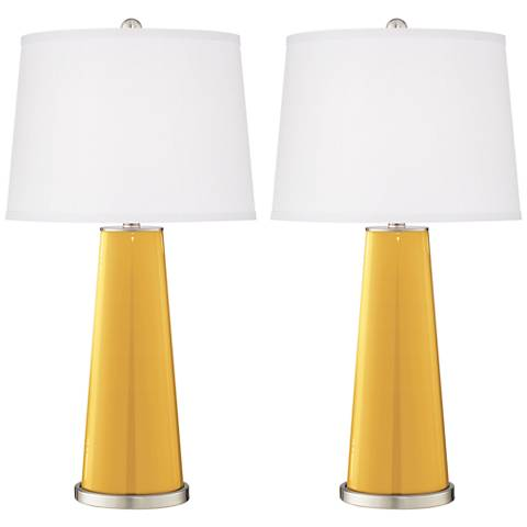 Goldenrod Leo Table Lamp Set of 2
