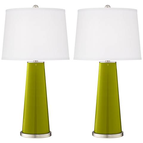 Olive Green Leo Table Lamp Set of 2