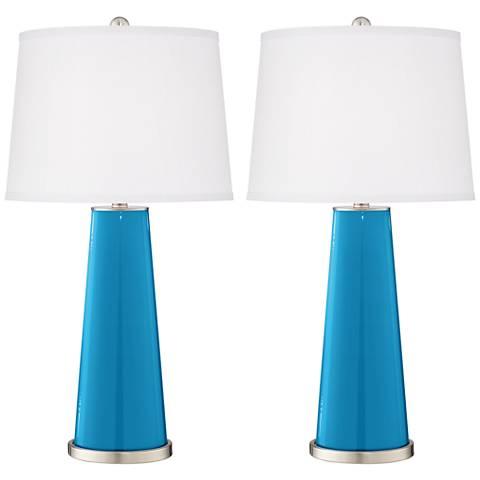 River Blue Leo Table Lamp Set of 2