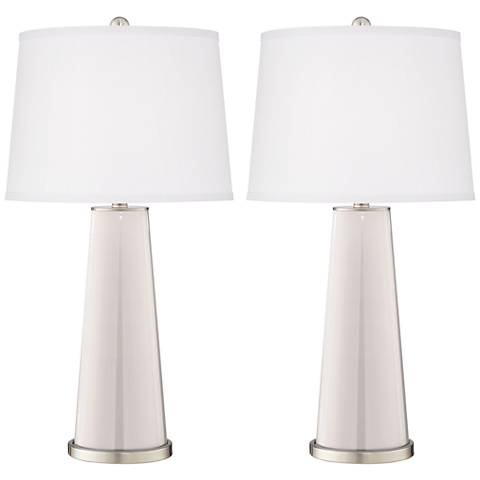 Smart White Leo Table Lamp Set of 2
