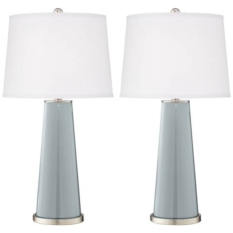 Uncertain Gray Leo Table Lamp Set of 2