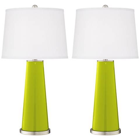 Pastel Green Leo Table Lamp Set of 2