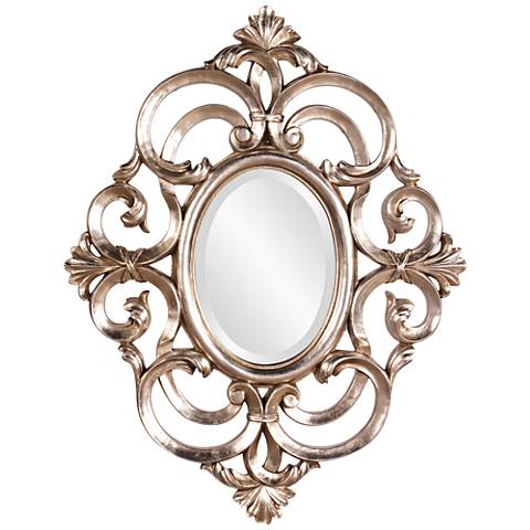 "Howard Elliott Antoinette Champagne 26"" x 34"" Wall Mirror"