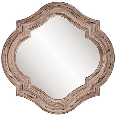 "Howard Elliott Aubrey Rustic Wood 36"" x 36"" Wall Mirror"